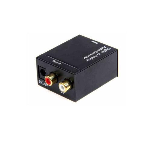 Well Μετατροπέας από Ψηφιακό ήχο Οπτικής Ίνας καιTosslink σε Αναλογικό 2xRCA CONV-DIG/AN-WL